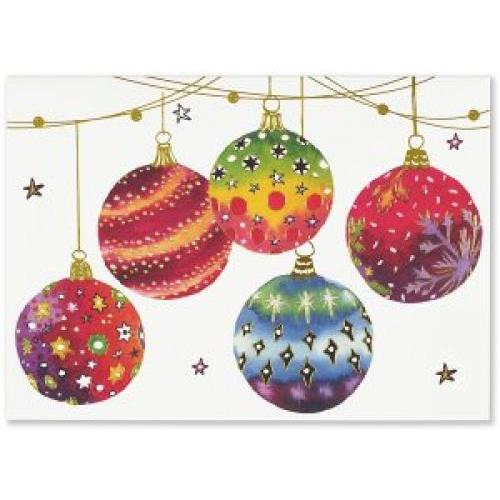 Christmas Boxed Card - Deluxe - Festive Ornaments