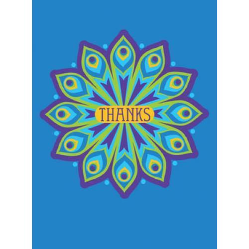 Thank You - Peacock Feather Circle
