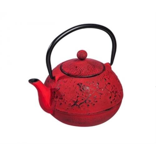 Cast Iron Teapot Red