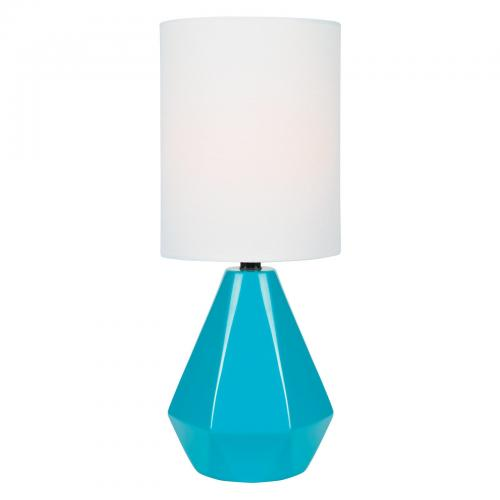 Mason Table Lamp Blue 7x7x17