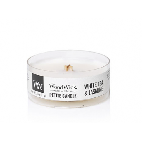 Woodwick Petite Candle White Tea And Jasmine 1.1oz