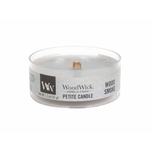 Woodwick Petite Candle Wood Smoke 1.1oz