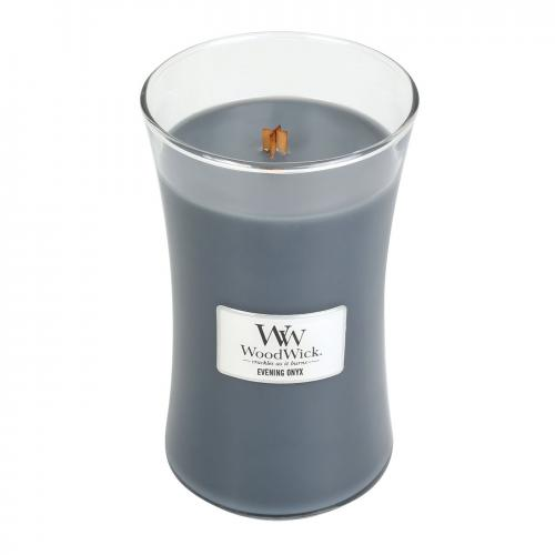 Woodwick Large Candle Jar Evening Onyx 22oz 130 Hour Burn Time
