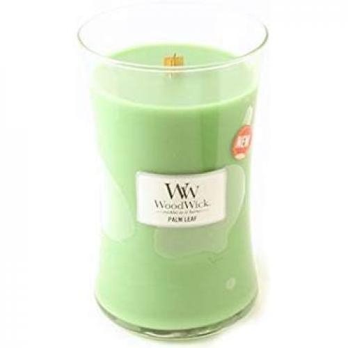 Woodwick Large Candle Jar Palm Leaf 22oz 130 Hour Burn Time