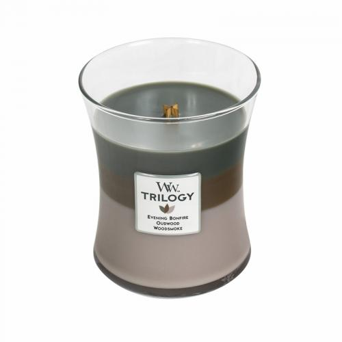 Trilogy Medium Candle Jar Cozy Cabin 10oz 60 Hour Burn Time