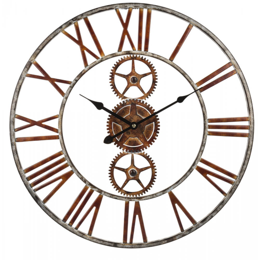 Wall Clock - Red & White Gear