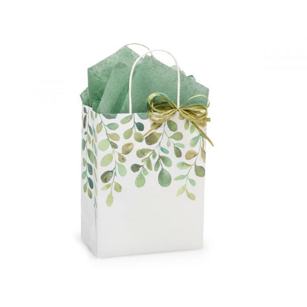 Gift Bag Cub Watercolor Greenery