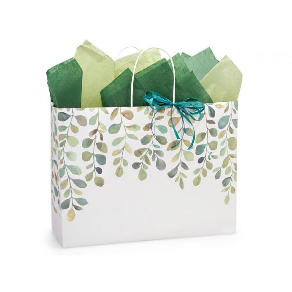 Gift Bag Vogue Watercolor Greenery