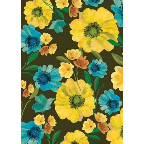 Wrapping Paper - Yellow And Blue Flowers - Gardner
