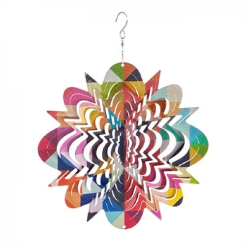 Outdoor Decorative Hanging Kinetic Spinner Geo