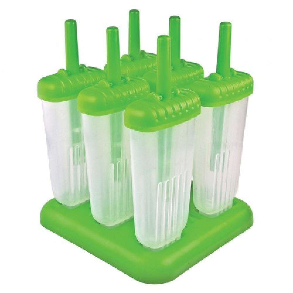 Ice Pop Mold Groovy Green 6 Piece Set