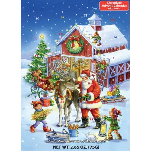 Advent Calendar Chocolate Ready Reindeer