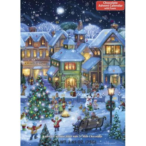 Advent Calendar Chocolate Holiday Village Square