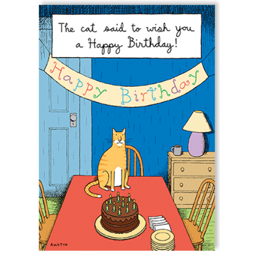 Birthday - Cat Birthday Wish