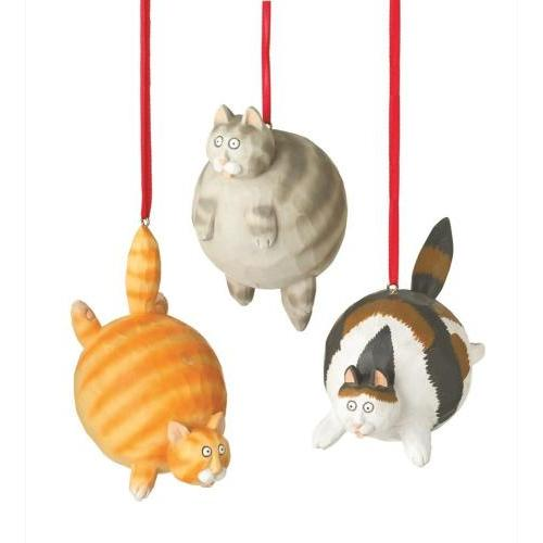 Ornament - Fat Cat - 3 Assorted