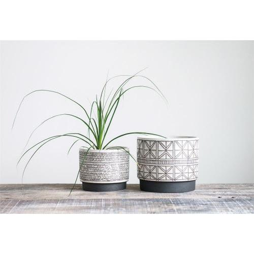 Flower Planter Pot 2 Size Set 8in And 7in