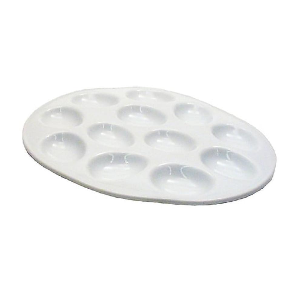 White Porcelain Egg Plate