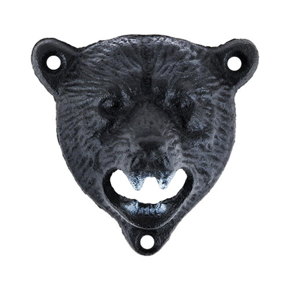Bottle Cap Opener Wall-mounted Metal Bear (foster & Rye)
