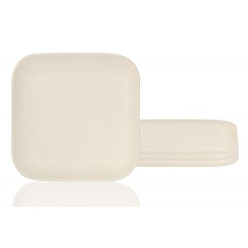 Outdoor Dinnerware White Square Plate 10.25in 4 Pieces