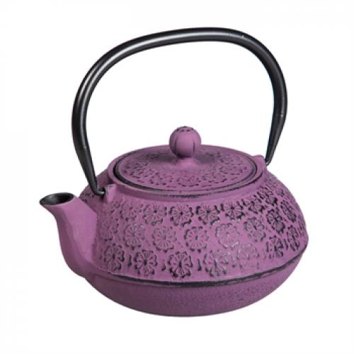 Cast Iron Teapot - Purple