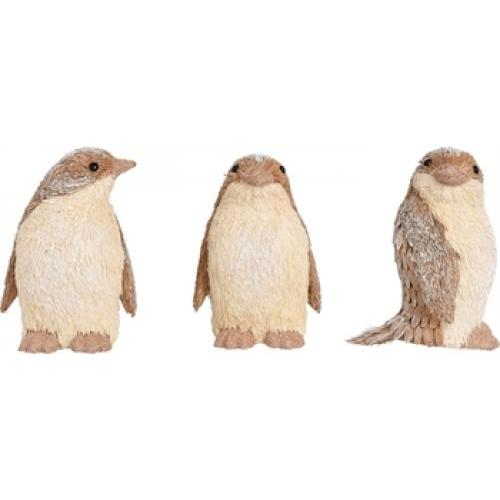 Sisal Winter Penguin - 3 Assorted