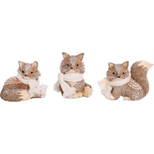 Sisal Fox - 3 Assorted