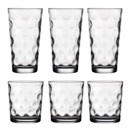 Drinkware Glass Tumbler Set Eclipse Indented Box Of 24 Carry Handle