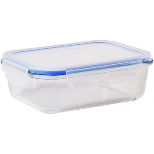 Food Storage Container Glass \'fresh N Seal\' With Lid Rectangle 1500ml