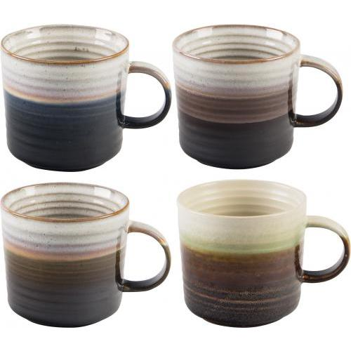 Mug Reactive Glaze Two Tone Hand Made 15oz 4 Colors Available