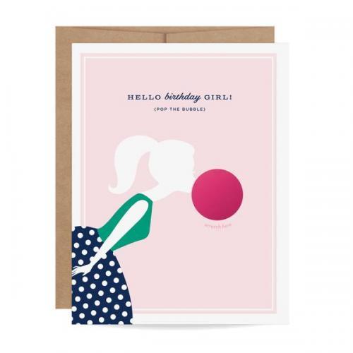 Birthday - Scratch Off Card - Bubble Gum