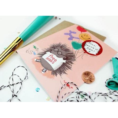 Birthday - Scratch Off Card - Porcupine
