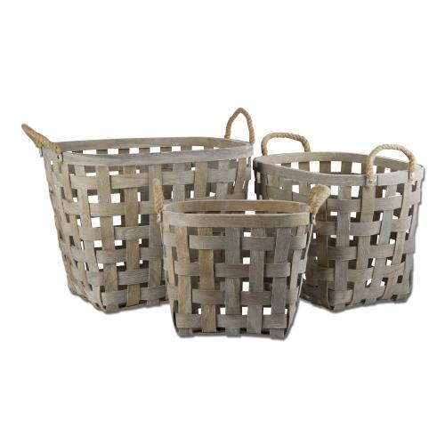 Baskets Oval Set Of 3