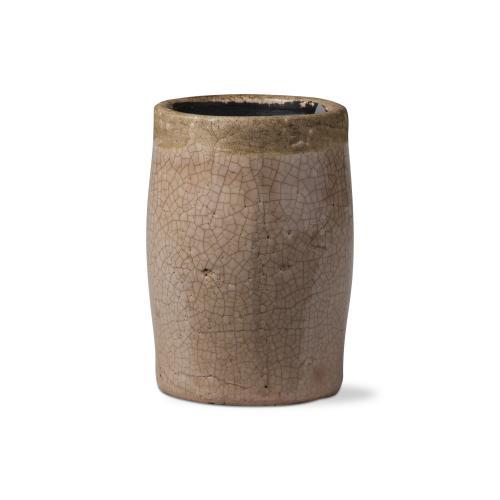 Planter Crackle Glaze Tall Blush 6in