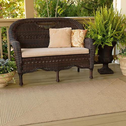 Ultra Durable Biscuit Rug 3ft X 5ft  Braided Rectangular