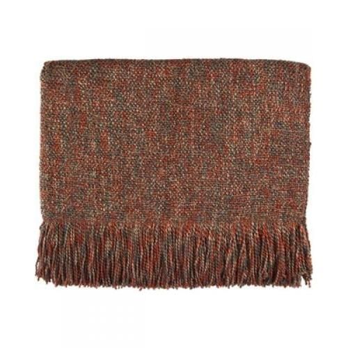 Throw Blanket Melange Pecan 45x70