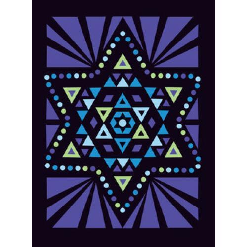 Hanukkah - Stain Glass Star