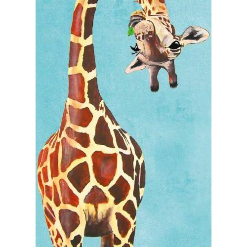 Birthday - Giraffe Upside Down