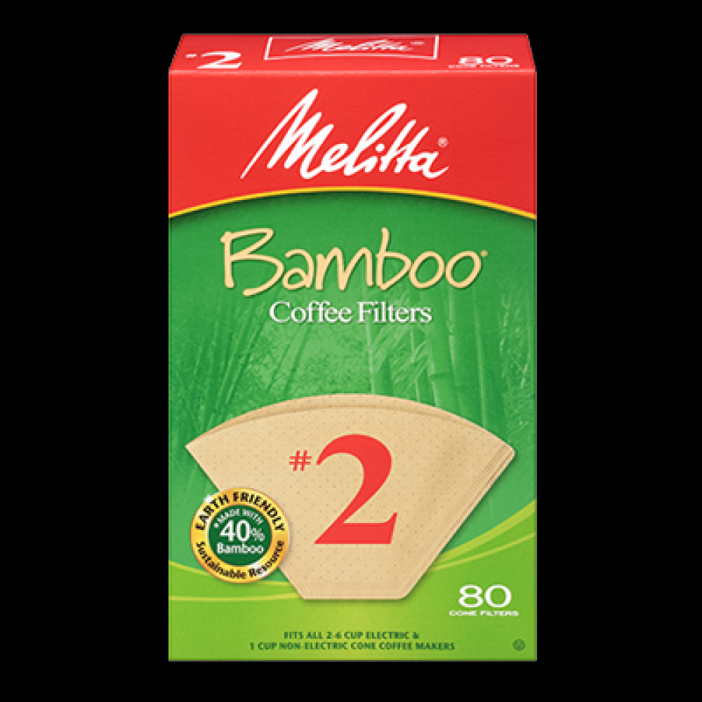 80ct Natural Bamboo Coffee Filter #2