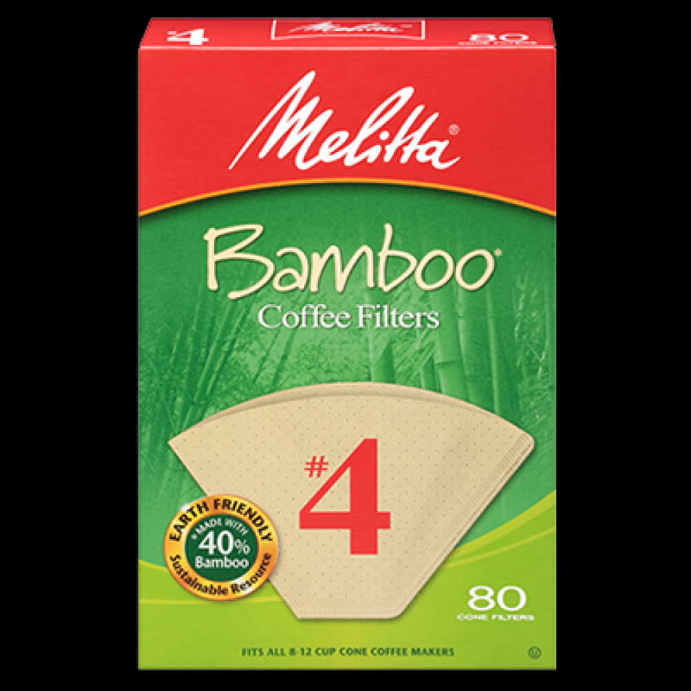 80ct Natural Bamboo Coffee Filter #4