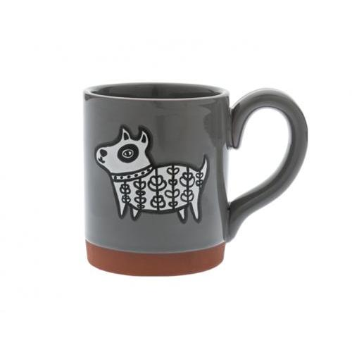 Mug - Cuppa Color Henna Dog In Grey