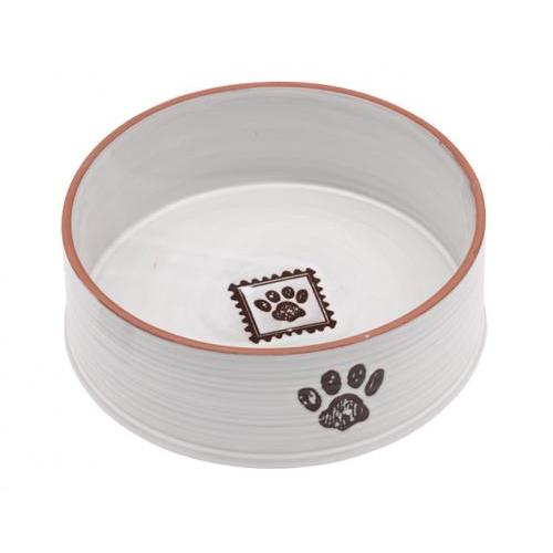 Food Bowl - Handcrafted Paw Print