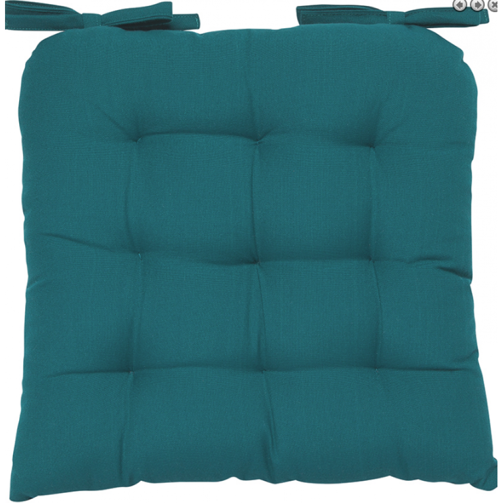 Renew Chair Pad Solid Peacock Teal