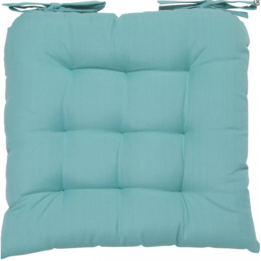 Renew Chair Pad Solid Turquoise