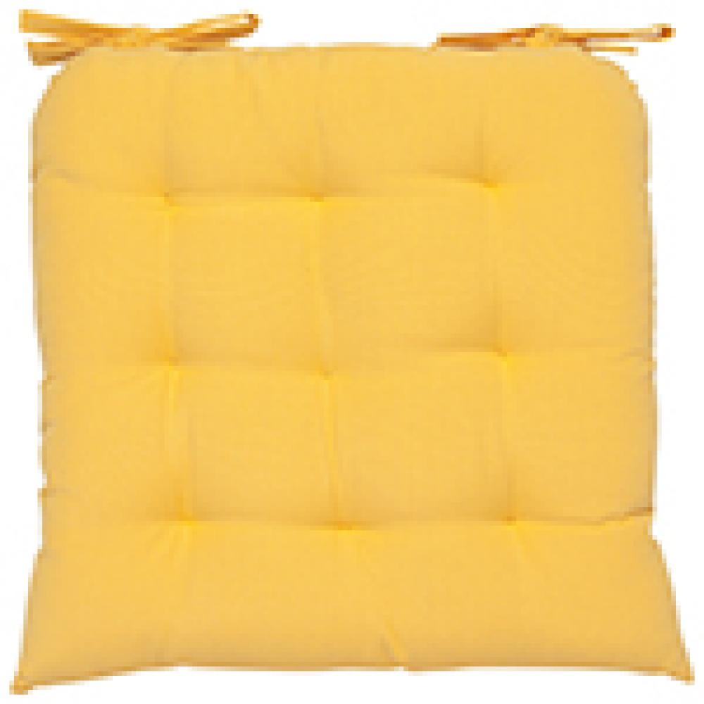 Renew Chair Pad Solid Honey Yellow