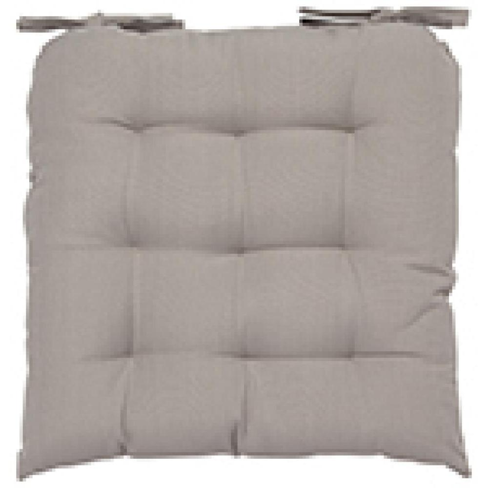 Renew Chair Pad Solid Cobblestone Gray
