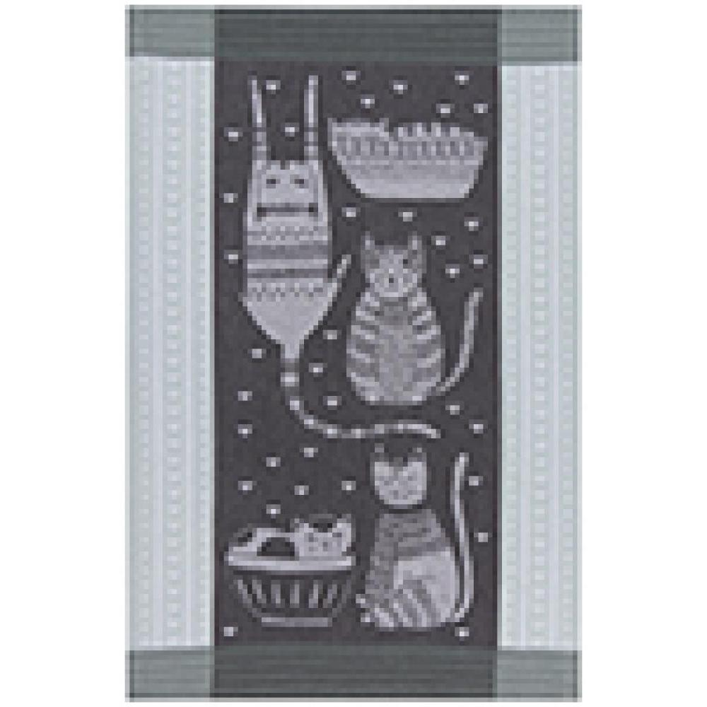 Tea Towel Jaquard Purr Party