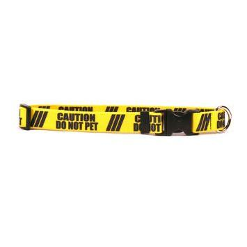 Dog Collar 1in wide Large 18inch-28inch Caution Do Not Pet