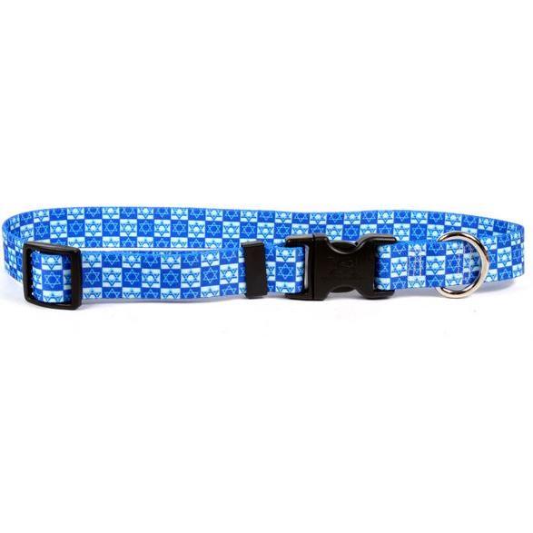 Dog Collar 1in wide Medium 14inch-20inch Hanukkah