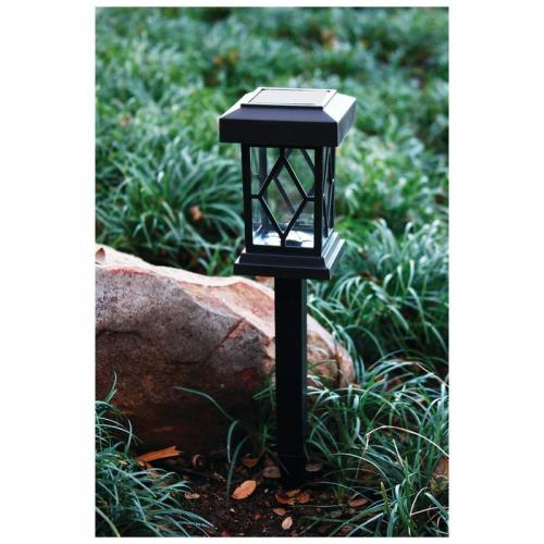 Set Of 2 Solar Lites,w/stakes And Wall Mnts
