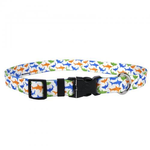 Dog Collar 1in Medium Sharks